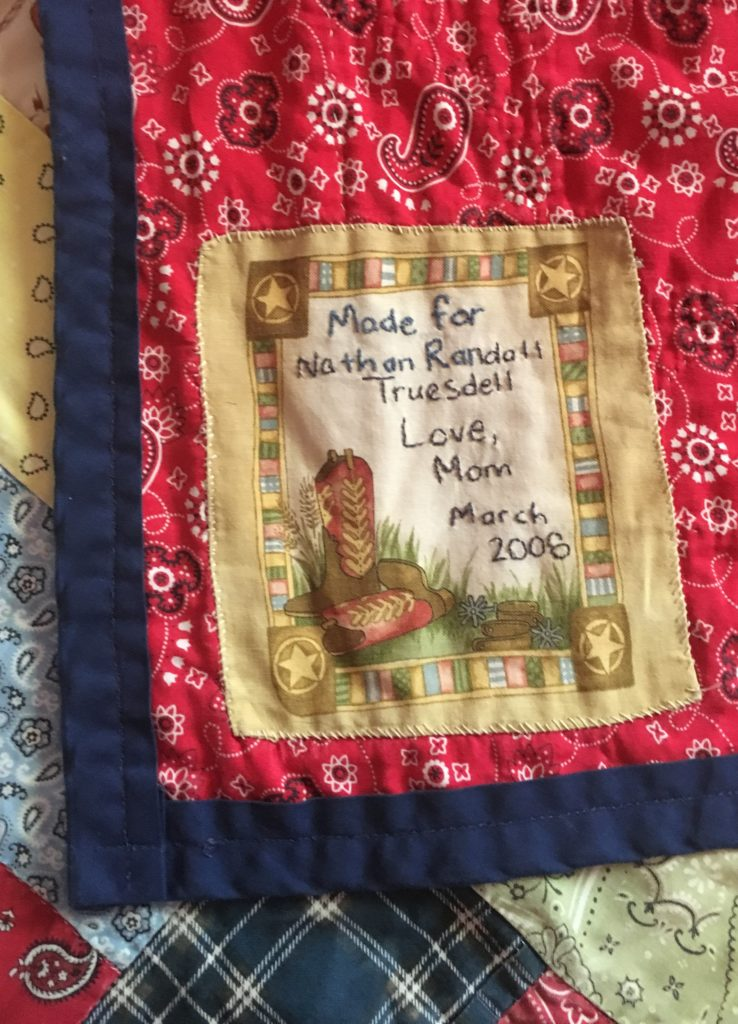 Lucky stars western quilt back