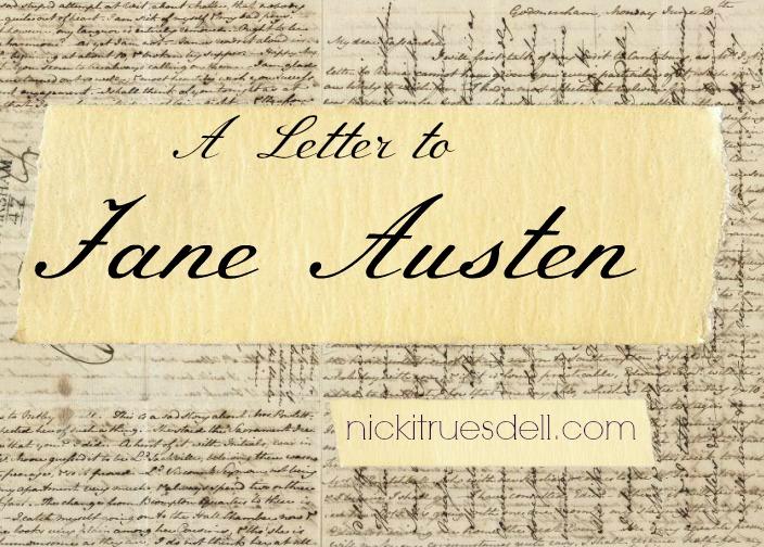 A Letter to Jane Austen