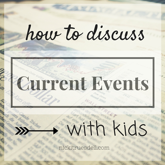 talking to your kids about current events