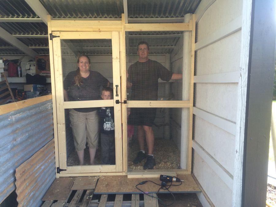 Finished door in the chicken coop