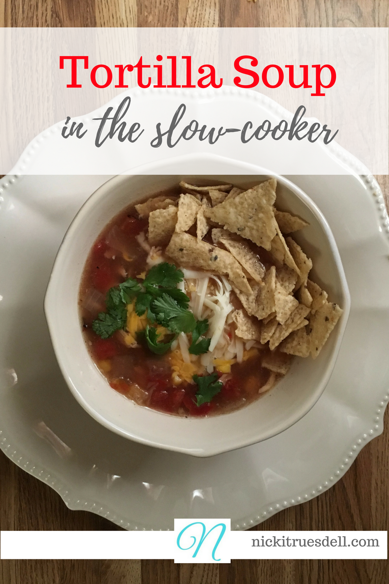 Tortilla soup in the slow cooker