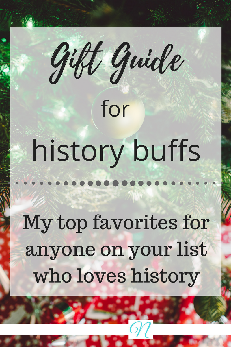 Need some quick recommendations for your Christmas shopping? Check out my gift guide for history lovers!