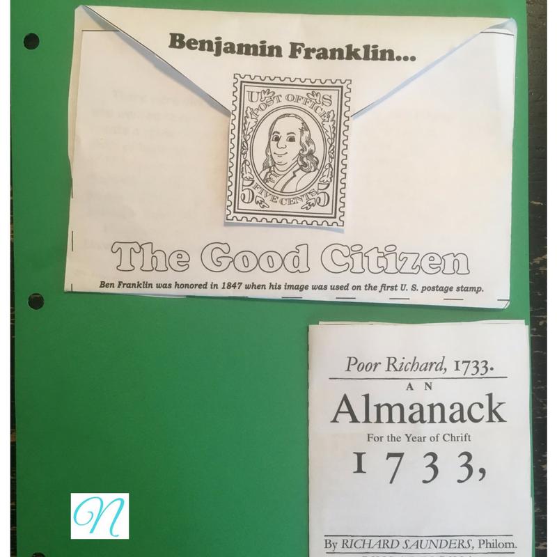Ben Franklin notebook page