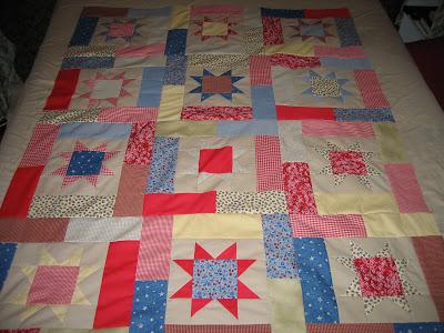 stars scrap quilt